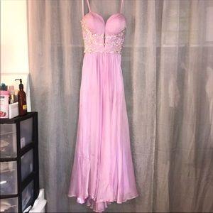 Lavender special event dress.